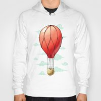 hot air balloon Hoodies featuring Hot Air Balloon by Freeminds