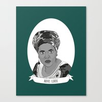 lorde Canvas Prints featuring Audre Lorde Illustrated Portrait by Illustrated Women in History