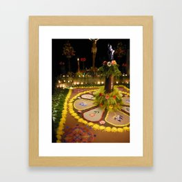 semana santa alter Framed Art Print