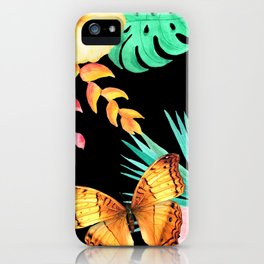 Tropical Golden Butterfly iPhone Case