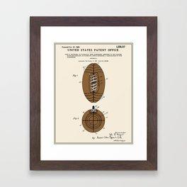 Football Patent Framed Art Print