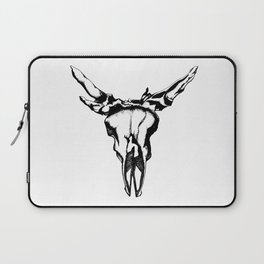 Bull Skull B&W Laptop Sleeve