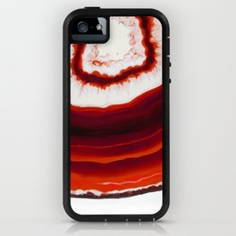 Red Agate Geode slice iPhone Case