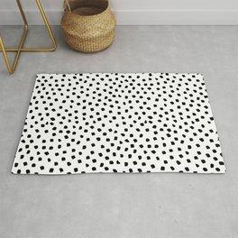 Dalmatian Dots Black White Spots Rug