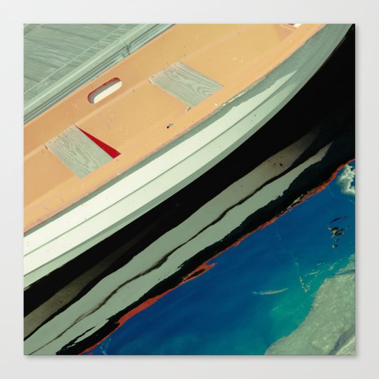 Boat Reflected Canvas Print