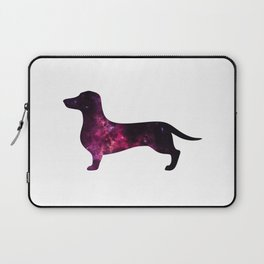 Eleven: Dachshund Space Silhouette Laptop Sleeve