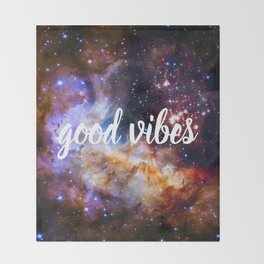 Good Vibes Hubble Space Photo Carina Star Cluster Throw Blanket