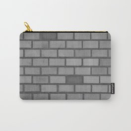 Brick wall black and white Carry-All Pouch
