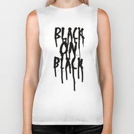 Black on black Biker Tank