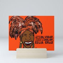 La Reina Celia Cruz Mini Art Print