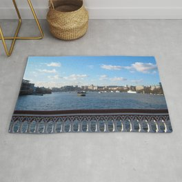 View Of River Thames From Blackfriars Bridge Rug