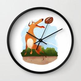 Footballer dog Wall Clock
