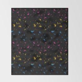 Dandelion Seeds Pansexual Pride (black background) Throw Blanket