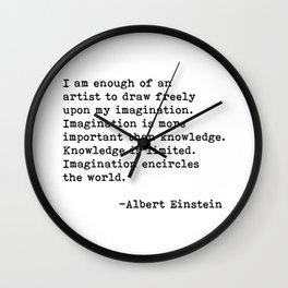 Albert Einstein Quote 08 Wall Clock
