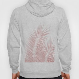 Blush Pink Palm Leaves Dream - Cali Summer Vibes #1 #tropical #decor #art #society6 Hoody