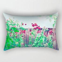 alliums in technicolor Rectangular Pillow