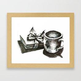 kitchen table series: mug and gift Framed Art Print