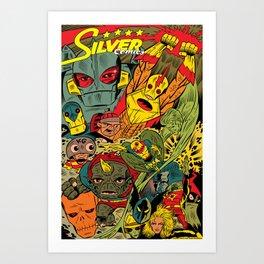 Silver Comics! Art Print