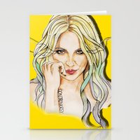 minaj Stationery Cards featuring BRITNEY YELLOWNEY by CARLOS CASANOVA