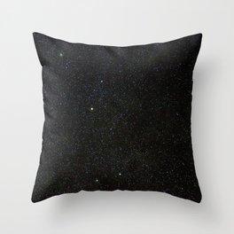Sagitta Constellation in Real Night Sky, The Arrow Constellation Starry Sky Throw Pillow