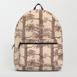 Pine Forest (Beige and Brown) Backpack
