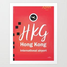 HKG Hong Kong airport Art Print