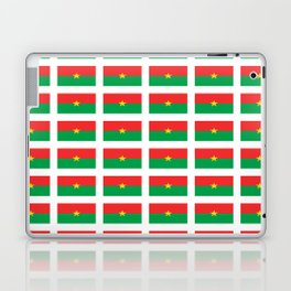 Flag of burkina faso- burkinabe,mossi,fula,ouagadougou,dioula,bobo-dioulasso,sahel,voltaic. Laptop & iPad Skin