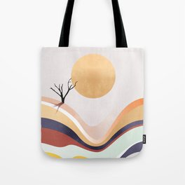 The Flowing Pale Desert Tote Bag