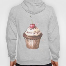 Delicious cupcake with cherry on top Hoody