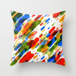 Diagonal sticks Throw Pillow