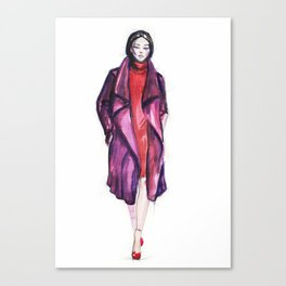 runway model Canvas Print