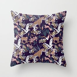 Night in the jungle Throw Pillow