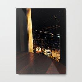 Silent Night By Window-Light Metal Print