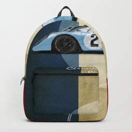 Le Mans Racetrack Vintage Backpack