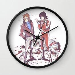 80's klance_sketchy_messy Wall Clock