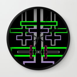 DOUBLE CROSS Wall Clock