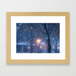 Morning Snowfall Framed Art Print