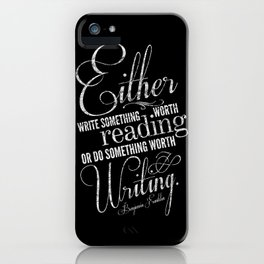 Benjamin Franklin Writing Quote iPhone Case