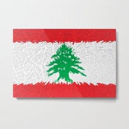 Extruded flag of Lebanon Metal Print