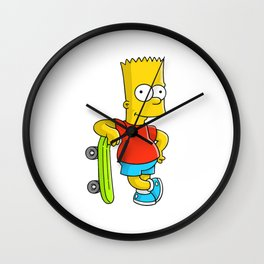 the simpson col sket Wall Clock