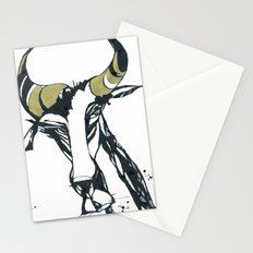 Golden Horn Goat Stationery Cards