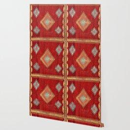 Çal  Antique Turkish Kilim Print Wallpaper