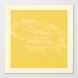San Antonio Motel Series - Vintage Niagara Blue Canvas Print