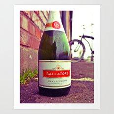 Urban wine bottle Art Print