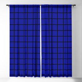 Double Lines – Black & Admiral Blue Blackout Curtain