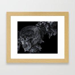 Smoking Skull 2 Framed Art Print