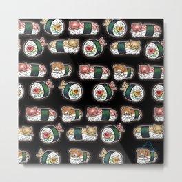 Sushi-cat Metal Print