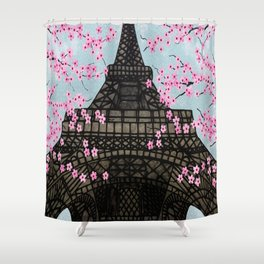 The Eiffeltower Shower Curtain