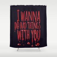 true blood Shower Curtains featuring True Blood  by Lita Rebello