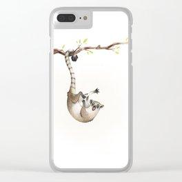 Maki catta Clear iPhone Case